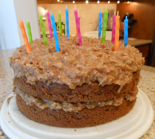 Stupendous German Chocolate Cake Dixies Kitchen Funny Birthday Cards Online Hendilapandamsfinfo